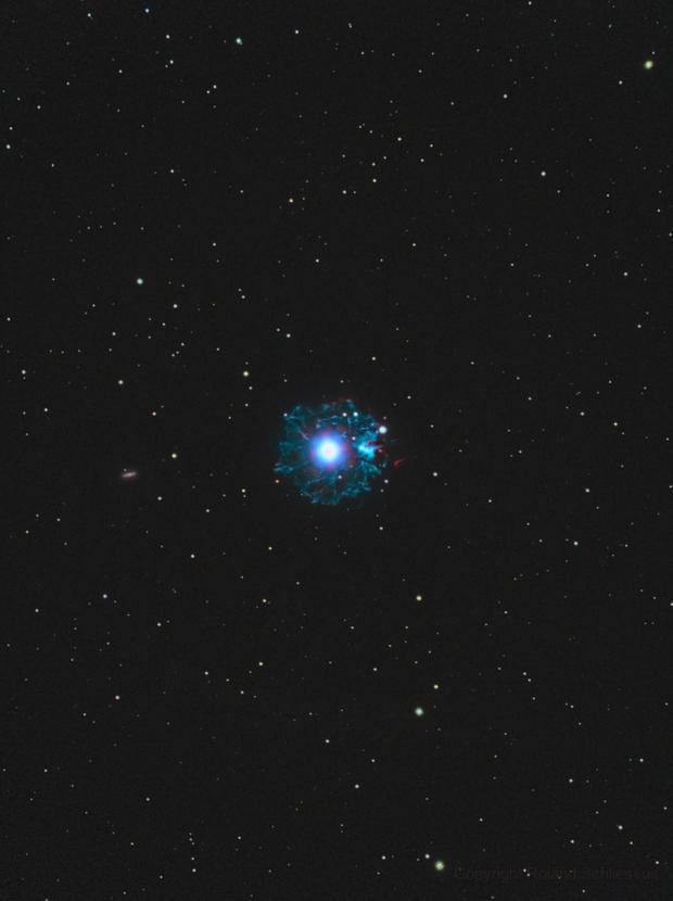 NGC 6543 Cat's Eye Nebula in HOO,                                Roland Schliessus