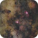 Eagle and Omega Nebulae,                                bbright