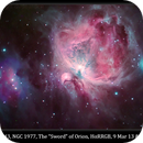 "M42, M43, NGC 1977, The ""Sword"" of Orion, HαRRGB, 9Mar13 & 2Jan15,                                David Dearden"