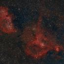 Heart and Soul Nebulae,                                Kevin Snedden