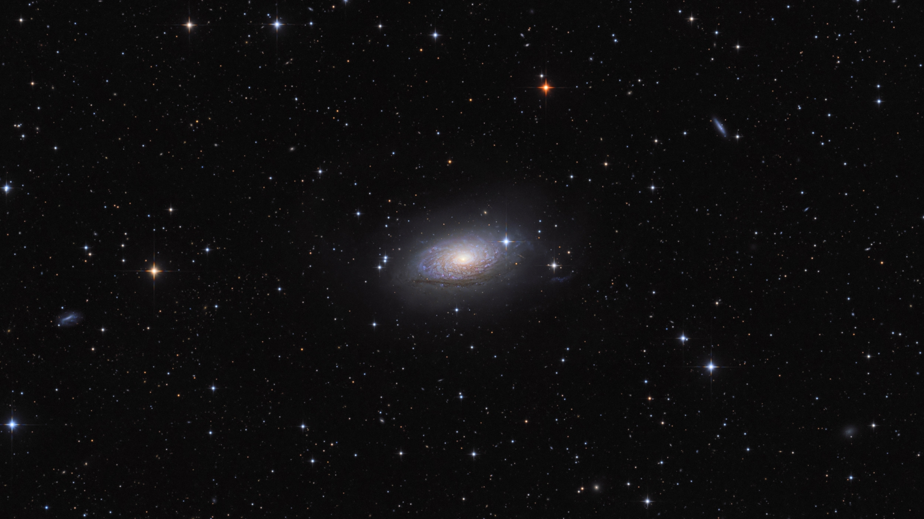 Messier 63 - M63 - Sunflower,                                Péter Feltóti