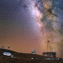 MilkyWay reflect on MAGIC Telescope and Gtc (La Palma, Canaries Island),                                Maxime Tessier
