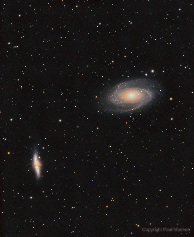 M 81 and M 82 Ha + LRGB first test,                                Paul Muskee