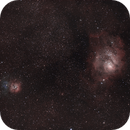 M8 M20 M21 - The Lagoon and Trifid Nebulae at the heart of Saggitarius,                                Benny Colyn