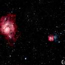 Lagoon (M8) and Trifid (M20) Nebulae,                                Mark Forteath