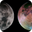 Full moon at various stages of processing,                                Aaron Golden