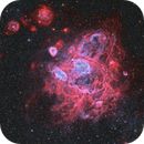 NGC 1760, Nebula and Star Forming Region in the Large Magellanic Cloud,                                flyingairedale