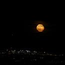 Moon behind Vienna Airport,                                nonsens2