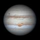 Animation: Ganymede & Europa transit Jupiter as Io emerges,                                Niall MacNeill
