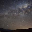 Time lapse Setting milky way over Drakensberg,                                Kamil