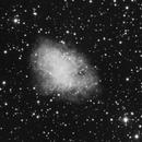 Messier 1 (Nébuleuse du crabe) en LUMINANCE.,                                Denis Bergeron