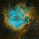 Rosette Nebula in SHO,                                Lawmarks