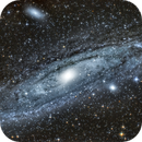 Galaxie d'Andromede M31, M32, M110,                                xavier