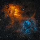 Sh2-132 (The Lion nebula),                                Goodwin