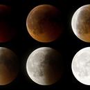 Mosaico HDR eclipse luna 2011,                                Astrofotógrafos