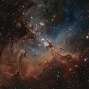 M16 - The Eagle Nebula in Hubble Palette,                                Ryan Kinnett