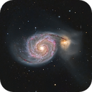 M51 The Whirlpool Galaxy (LHaRGB) - 26 April 2020,                                Geof Lewis