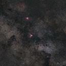 M17 Omega nebula & M16 Eagle nebula widefield,                                Hans Joachim Kämper