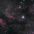 IC1318 - the Sadr Nebular region 2x2 Mosaic,                                seigell