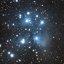 Messier 45 - The Pleiades Star Cluster,                                Evelyn Decker