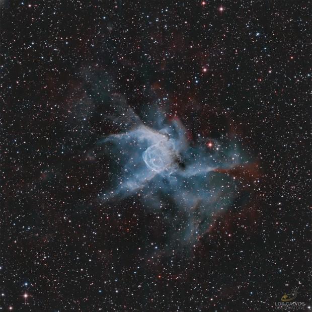 NGC-2359 Thor's Helmet in HOO,                                Los_Calvos