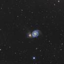 Messier 51 - avril 2014,                                JFHAR41