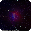 "Sh2-174, ""Valentine Rose"" Nebula, HO Bicolor, 21 & 24 Aug 2019,                                David Dearden"
