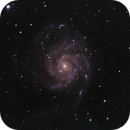 Messier 101, the Pinwheel Galaxy on June 10th, 2019,                                Evelyn Decker
