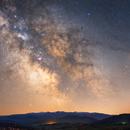Milky Way and Bieszczady mountains,                                Jakub Kamiński