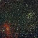 M-52 (NGC-7654) and The Bubble Nebula (NGC-7635),                                Stargazer66207