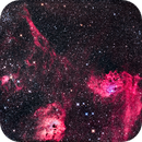 Messier 38 and the Flaming Star Nebula in Auriga,                                Alan Dyer