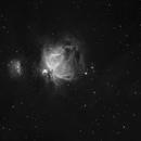 M42 Orion in H alpha - Light polluted town center,                                Jocelyn Podmilsak