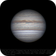 Jupiter 28 Apr 2018 14:01 UTC - North up,                                Seb Lukas