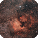 "NGC7000 / Canon 100Da + Samyang 135mm f/2.0 open f/3.5 / Star adventurer / 30x90"" / ISO 1600,                                patrick cartou"