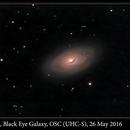 M64, Black Eye Galaxy, OSC (UHC-S), 26 May 2016,                                David Dearden