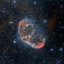 NGC 6888 Crescent Nebula (HOO),                                Barry Trudgian