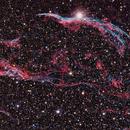 Western Veil (NGC 6960) & Pickering's Triangle  (NGC 6979) 7 Hours,                                Terry Hancock