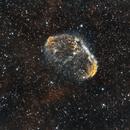 Crescent Nebula, narrowband-enhanced,                                Frank Kane