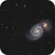 Messier 51,                                julastro