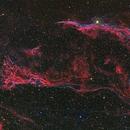 Western Veil Nebula (RGB overview),                                David McClain
