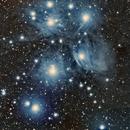 PLEIADES - M45  ED80 ,                                Laurent