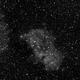 IC1848 - Soul Nebula - 20200104 - Neewer 85mm F2.5 - Ha,                                altazastro