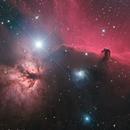 IC434 Horsehead nebula 2 frame mosaic QHY600,                                Patrick Dufour