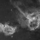 IC 1805 & 1805 - 2 Panel Mosaic H-alpha,                                Skorpi79