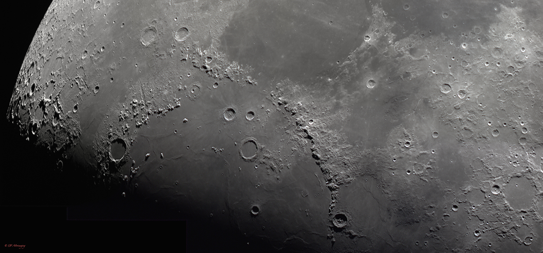 Moon panoramic mosaic,                                DustSpeakers