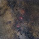 Widefield Eagle Nebula and Omega Nebula,                                Alexander Voigt