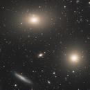 M86 et M84 galaxies elliptiques,                                Rémi Méré