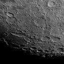 Lunar south polar high res mosaic Apr 5th 2020,                                Wouter D'hoye