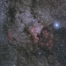 Autour de la nébuleuse América, Sh2-119, NGC7000, IC5070,                                ASTROIDF