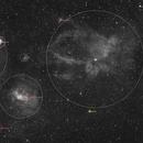Claw Nebula and Friends,                                pnj